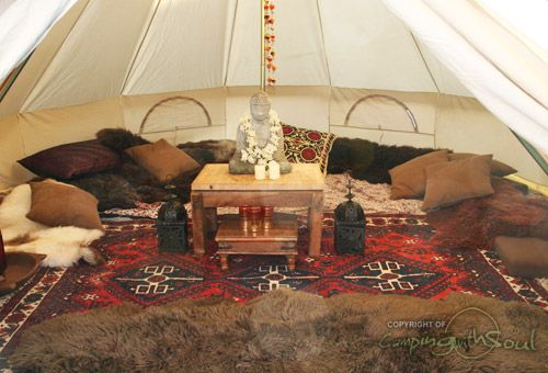 Bell tent - inside