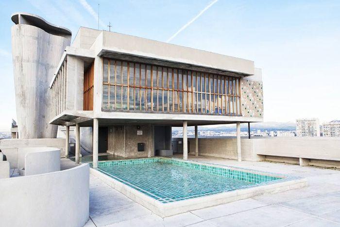Un duplex à la Cité Radieuse à Marseille de Le Corbusier © Patrick Mouial