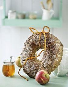 Langtidshævet brødhjul med æbler