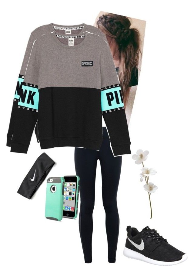 """Sporty"" by seafoam-volleyball ❤ liked on Polyvore featuring NIKE, women's clothing, women, female, woman, misses and juniors"