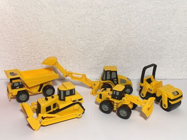 Toy State Cat Caterpillar 5 Construction Toys Bulldozer Dump Truck Wheel Loader #Toystate #Caterpillar