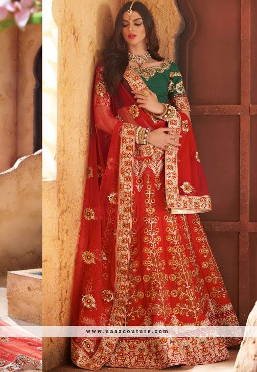 Baronial Banarasi Silk A Line Lehenga Choli For Bridal
