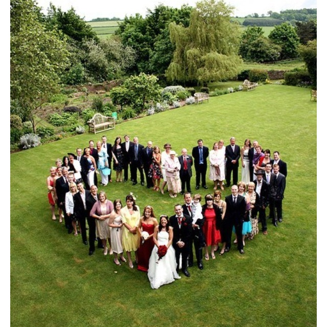 This picture says so much about family, love, marriage, community, support; even the perspective has something to say.