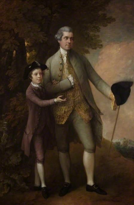 Thomas Rumbold (1736–1791), and Son, Thomas Gainsborough