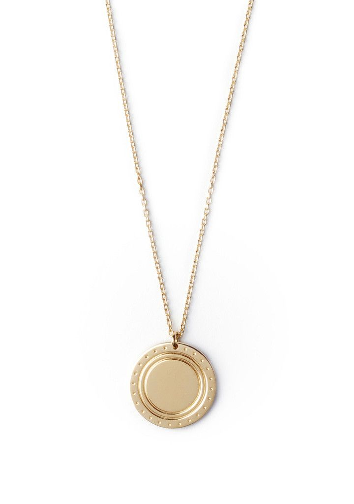 Logo Necklace Gold von Trine Tuxen | NAEKTA