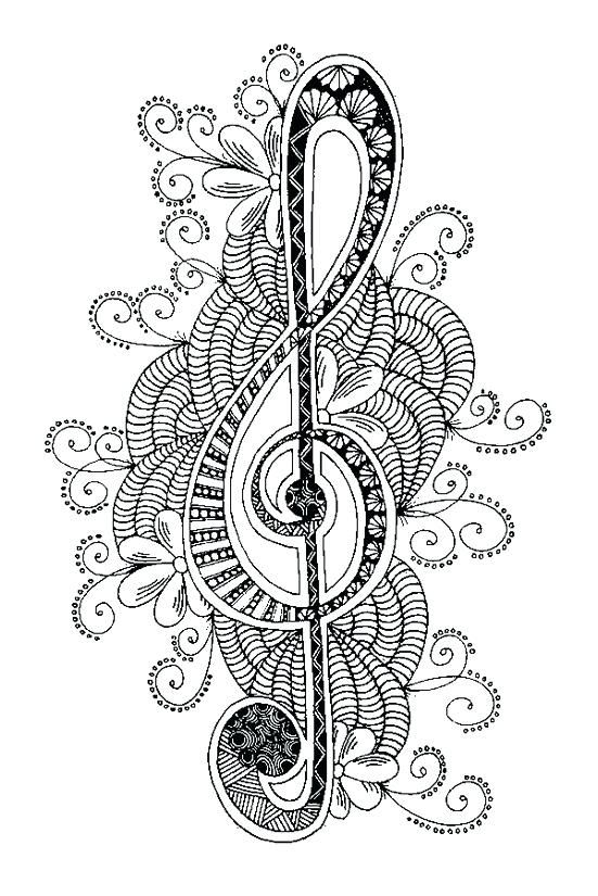 Treble Clef Coloring Page Treble Clef More Coloring Pages