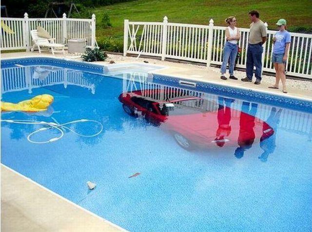 nice parking,: Swimming Pools, Fail, Cars, Mazda Miata, Oops, Funny Stuff, Humor, Things, Bad