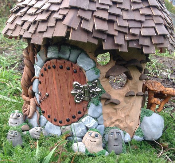 Rock trolls gnome for miniature fairy garden by Beneaththeferns