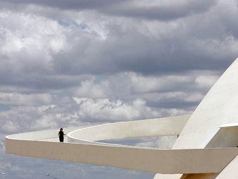 The ramp of Brasilia's National Museum - Oscar Niemeyer 1907-2012
