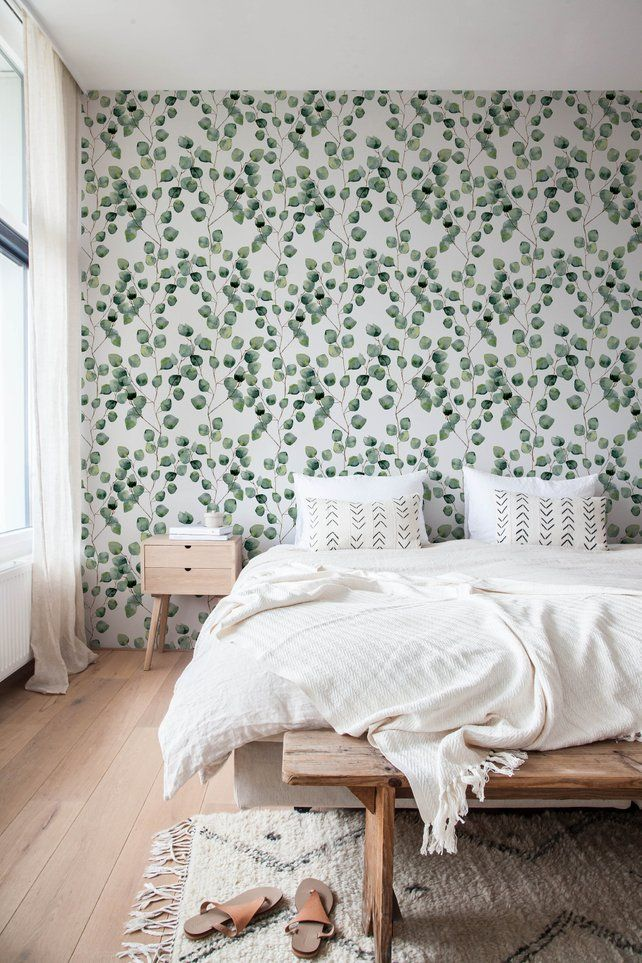 Removable Wallpaper Cactus Wallpaper Eucalyptus Peel And Stick Etsy Removable Wallpaper Temporary Wallpaper Home Decor