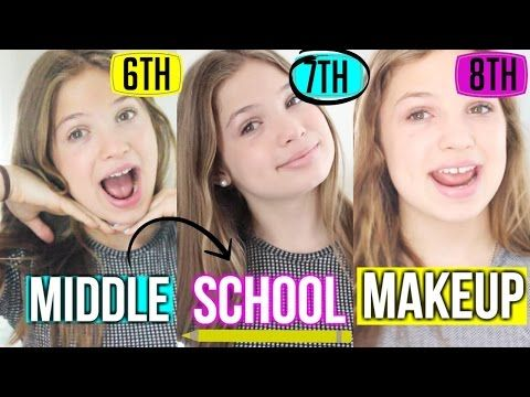 Middle School Makeup Tutorial ♡ 6th, 7th, and 8th Grade! - YouTube