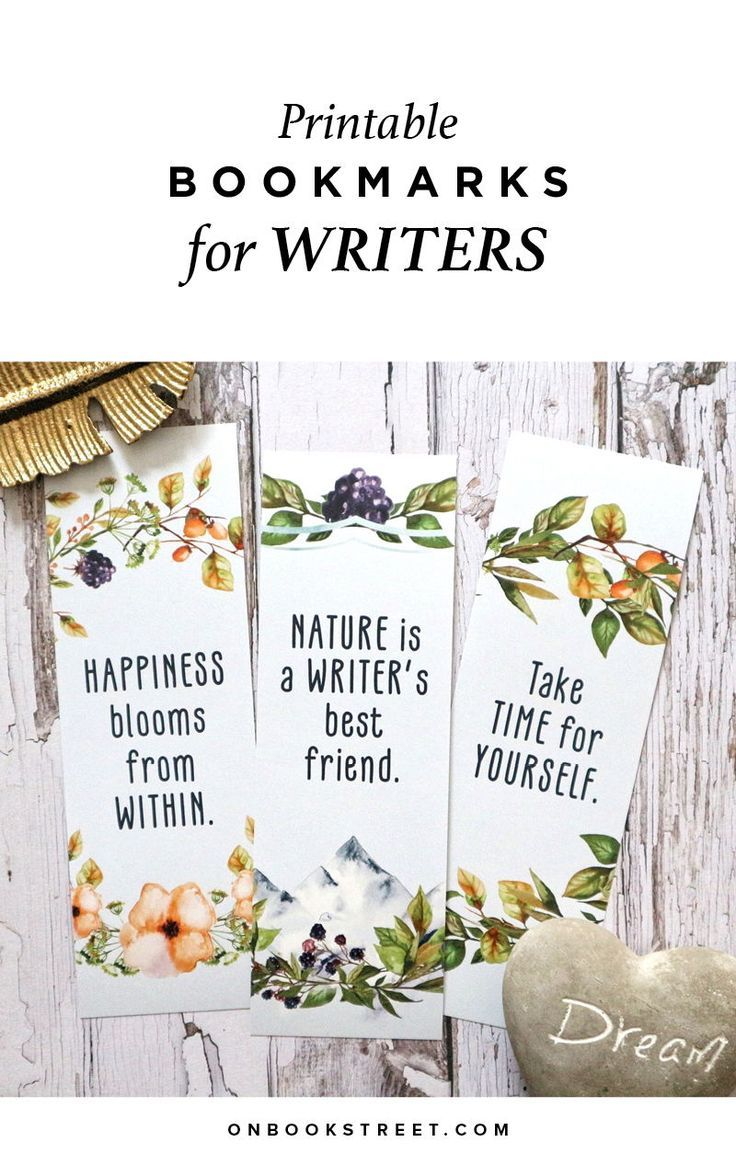 Printable Bookmarks Inspirational Quotes Bookmarks For Books Gifts