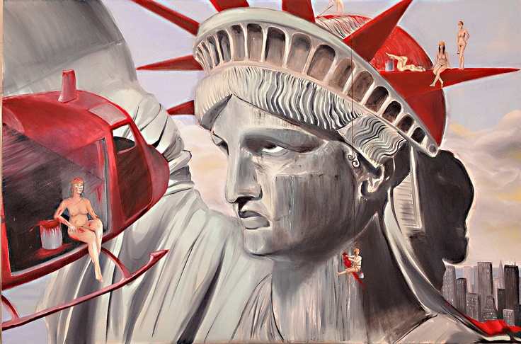The Color of Freedom  Oil on canvas - 150 cm times 100 cm