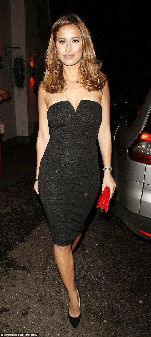 Show off your shoulders in Fearne's strapless dress from AX Paris, £30