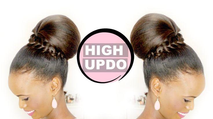 HIGH UPDO   HAIR TUTORIAL FOR MEDIUM TO LONG HAIR