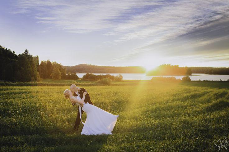 Piia&Niilo #weddingphotography #wedding #bride #groom #love #sunset
