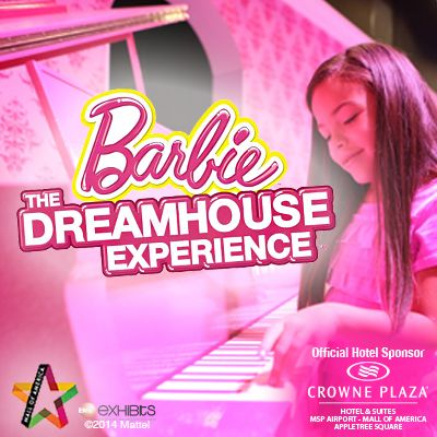Barbie® Dreamhouse Experience® at Mall of America  -  Official Hotel Sponsor: Crowne Plaza Hotel & Suites at 3 Appletree Sq. -  Special Offer - Click the Pin
