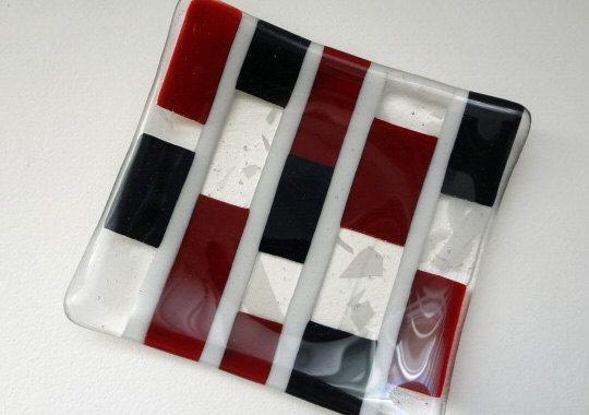 Modern Fused Glass Dish (TD10) by bonifidebluesstudio on Etsy https://www.etsy.com/listing/96414487/modern-fused-glass-dish-td10