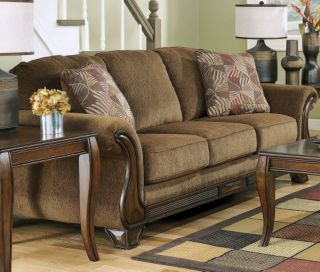 Ashley montgomery mocha sofa hgtv room makeover pinterest mocha living rooms and sofas for Montgomery mocha living room set