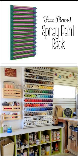 Giant Spray Paint Rack... FREE building plans! {Reality Daydream}