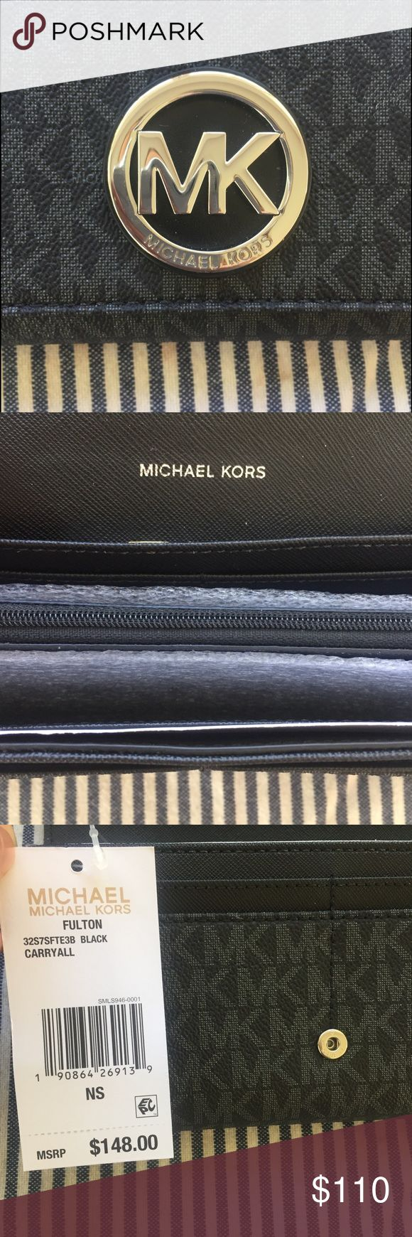 Michael Kors Fulton Wallet Brand new with tags, current season Fulton wallet. Always open to offers! Can be dressed up or down, features a coin purse, 14 card slots, numerous slots for bills... Michael Kors Bags Wallets