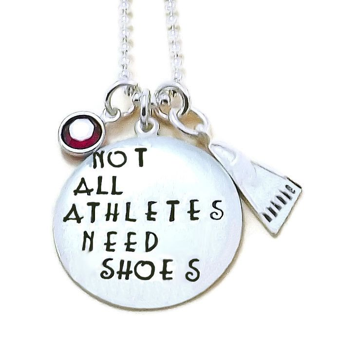 """""""Not All Athletes Need Shoes"""" Necklace or Key Chain. A fun gift for your swimmer."""