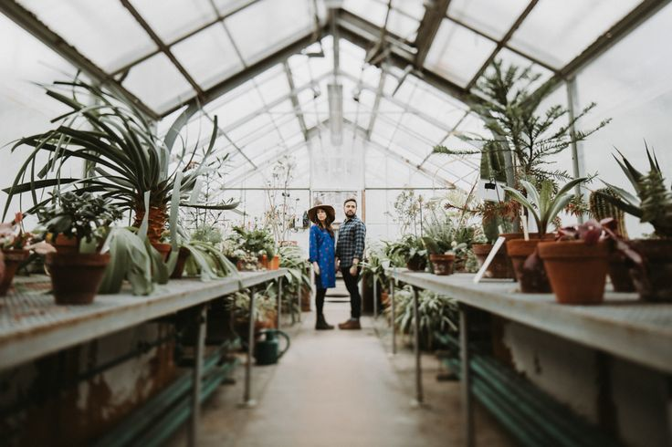 Wellesley College Greenhouse Engagement Session