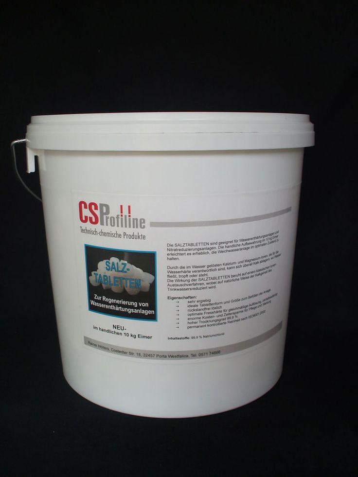 Regeneriersalz Salztabletten Salz Siedesalz 10 kg Eimer NEU