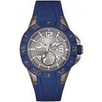 GUESS Date Blue Rubber Strap W0034G6