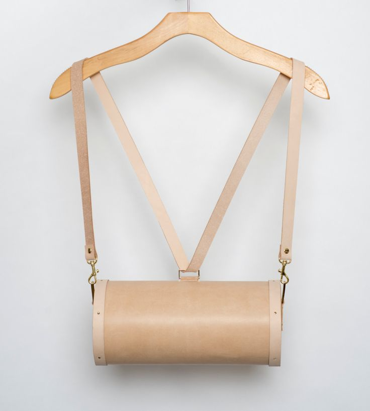 Vegan Leather and Maple Wood Backpack SS15 by noemiah on Etsy