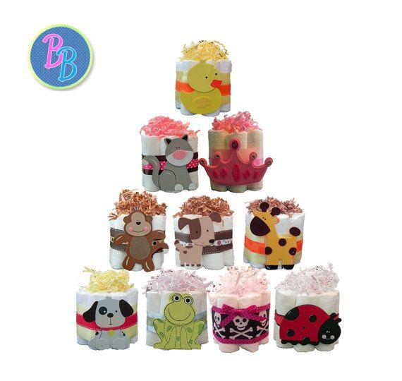 Mini torte di pannolini  unico favore Baby doccia di BabyBinkz