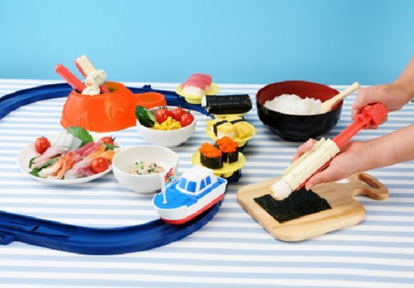This Conveyor Belt Sushi Set Makes Assembly and Eating Easy #kids #toys trendhunter.com