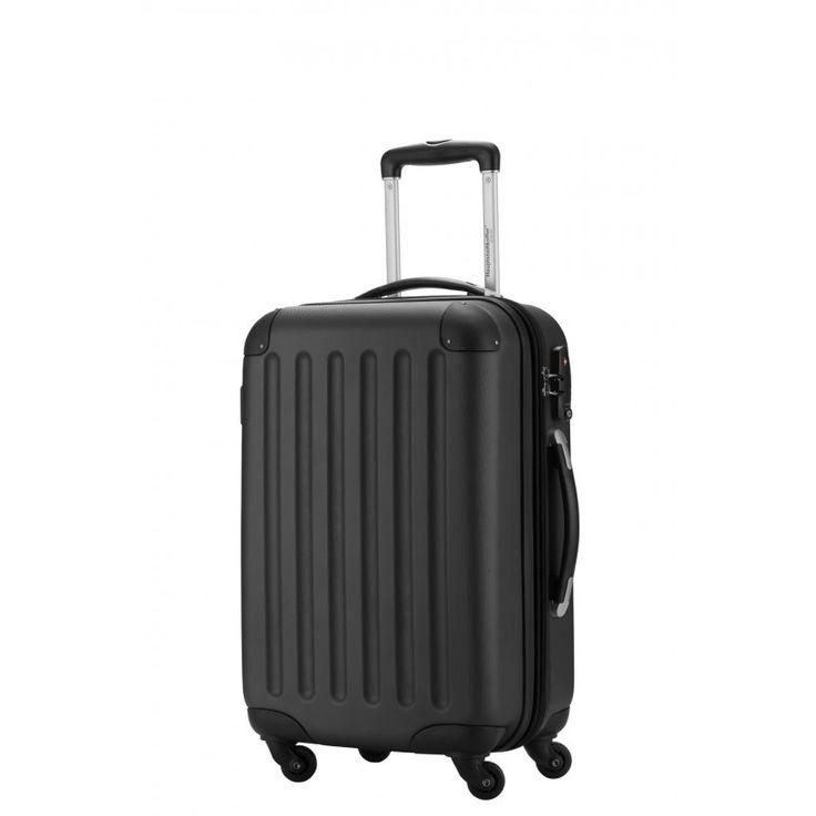 """Spree - Handgepäck Koffer schwarz/matt mit 4 Rollen; Schwarzer #Trolley aus der Serie """"Spree"""" von #Hauptstadtkoffer.  #Hartschalenkoffer #Handgepäck #Schwarz #Koffer #Travel #Luggage #Reisen #Urlaub #black #Hardcase #spree => mehr Schwarze Koffer: https://hauptstadtkoffer.de/de/reisegepack/alle-produkte?color=24"""