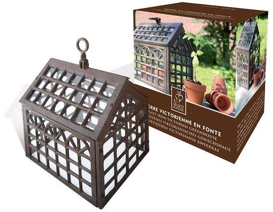 #Invernadero #Victoriano decorativo de hierro fundido para proteger las pequeñas plantas del viento y el frío