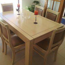 mesa jantar e cadeiras envelhecida com contornos depois 3
