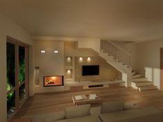 Oltre 25 fantastiche idee su caminetti rustici su - Sognare scale mobili ...