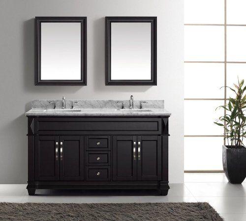 Photo Album Gallery Virtu Victoria Double Bathroom Vanity Set with Mirror Base Finish