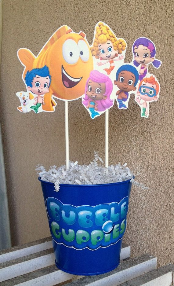 Fully Assembled Bubble Guppies Centerpiece by MountainViewCreation