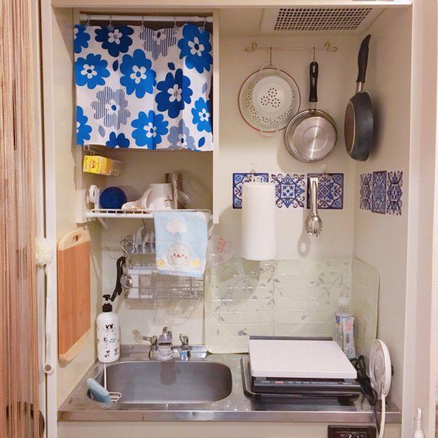 キッチン ミニキッチン ひとり暮らし 狭い部屋 生活感たっぷり など