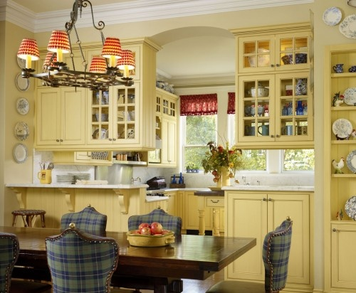 17 best ideas about red country kitchens on pinterest for Red and yellow kitchen ideas