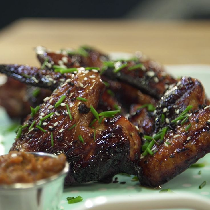 This wings are sweet on the outside and spicy on the inside.