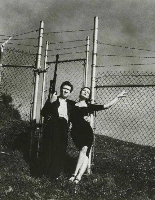 David Lynch and Isabella Rossellini by Helmut Newton, 1988