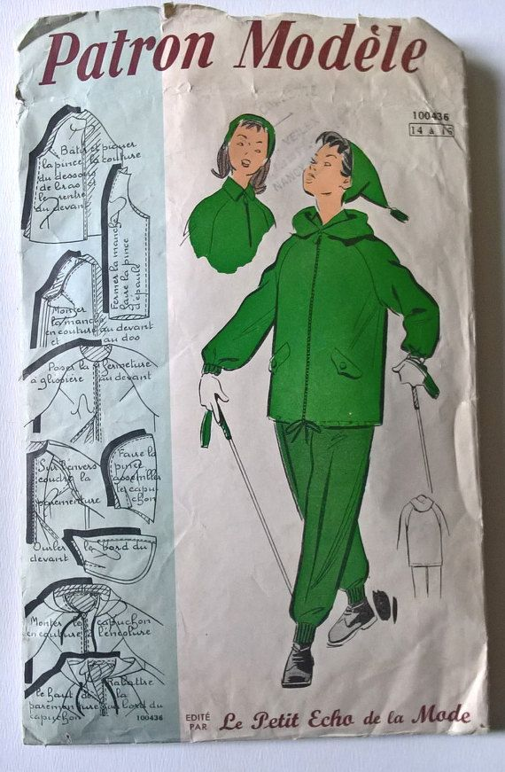 50's french vintage sewing pattern