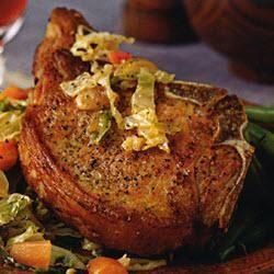 Chuletas de cerdo con chucrut fresco @ allrecipes.com.mx