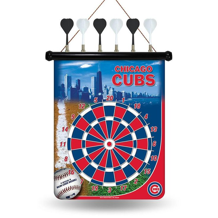 Chicago Cubs MLB Magnetic Dart Board