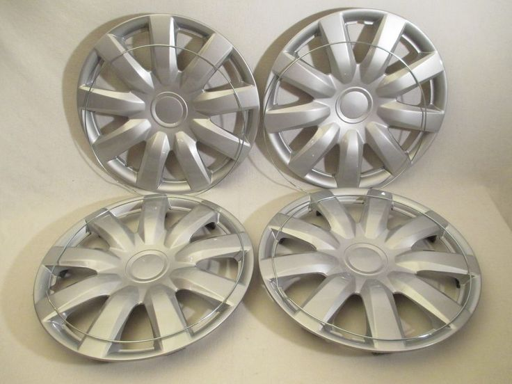 """4 NEW OEM SILVER 15"""" HUB CAPS FITS 1983-CURRENT TOYOTA CAMRY WHEEL COVERS SET #AftermarketProducts"""
