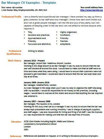 Более 25 лучших идей на тему «Cv example» на Pinterest - production manager job description