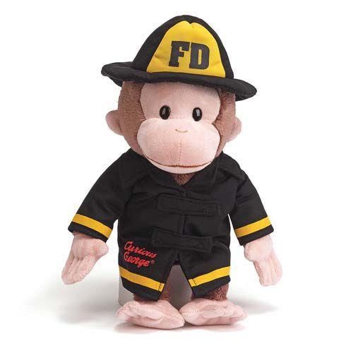 Curious George Fireman Plush