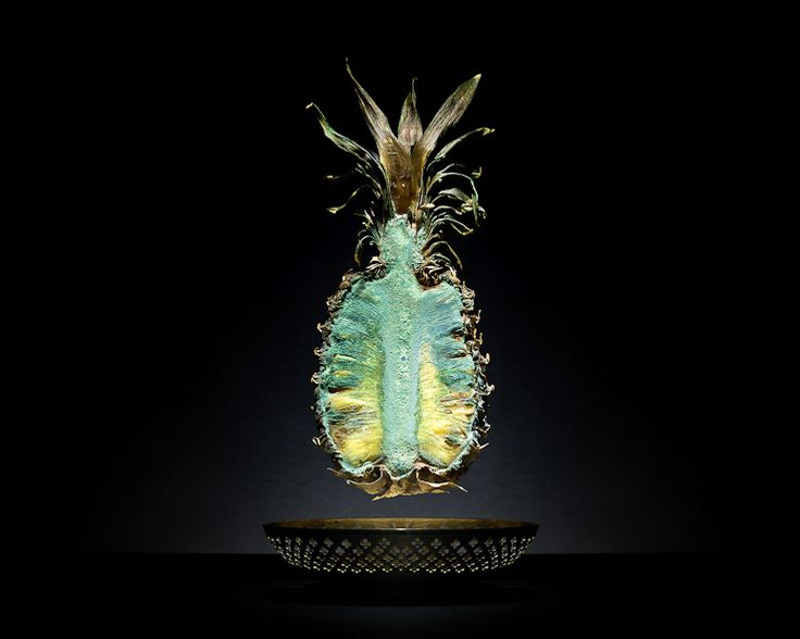 "Klaus Pichler's ""One Third: Pineapple"", depicting decomposition of food related to global food wastage"