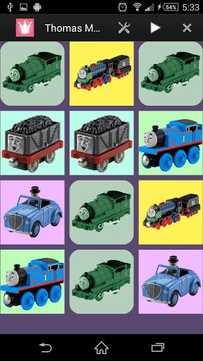 Thomas Memory is the classic kid's memory game with Thomas toys to improve memory skills of kids. <p>This is a free educational and entertaining game for your children of all ages. Test your memory and match the pairs of pictures. Thomas Memory game is a brain trainer, which can be played any time when you are free<br>To achieve the highest score, match pairs of adorable image with the fewest mistakes as possible.<p>[Features]<br>- 4 categories<br>- Simple rule – Make the same couple of…